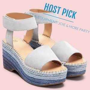 Frye   Amber Espadrille Wedge Sandals NIB   6